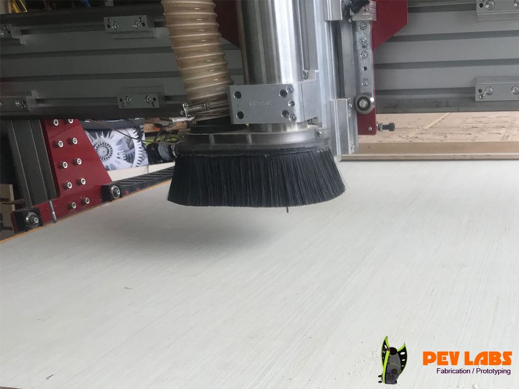 CNC Set Up With Blank Sheet of Plywood