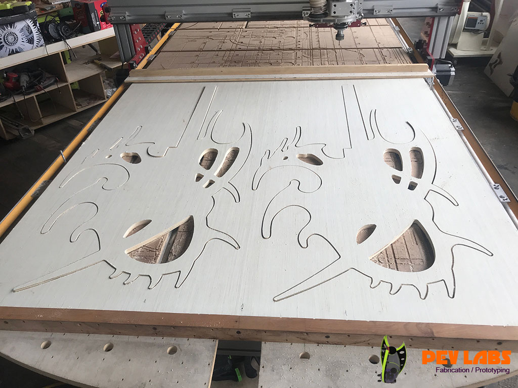 Guitar CNC Milling of Outer Profiles 2b