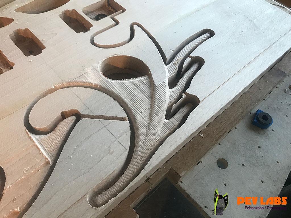 Guitar Body CNC Rough with Ball Nose
