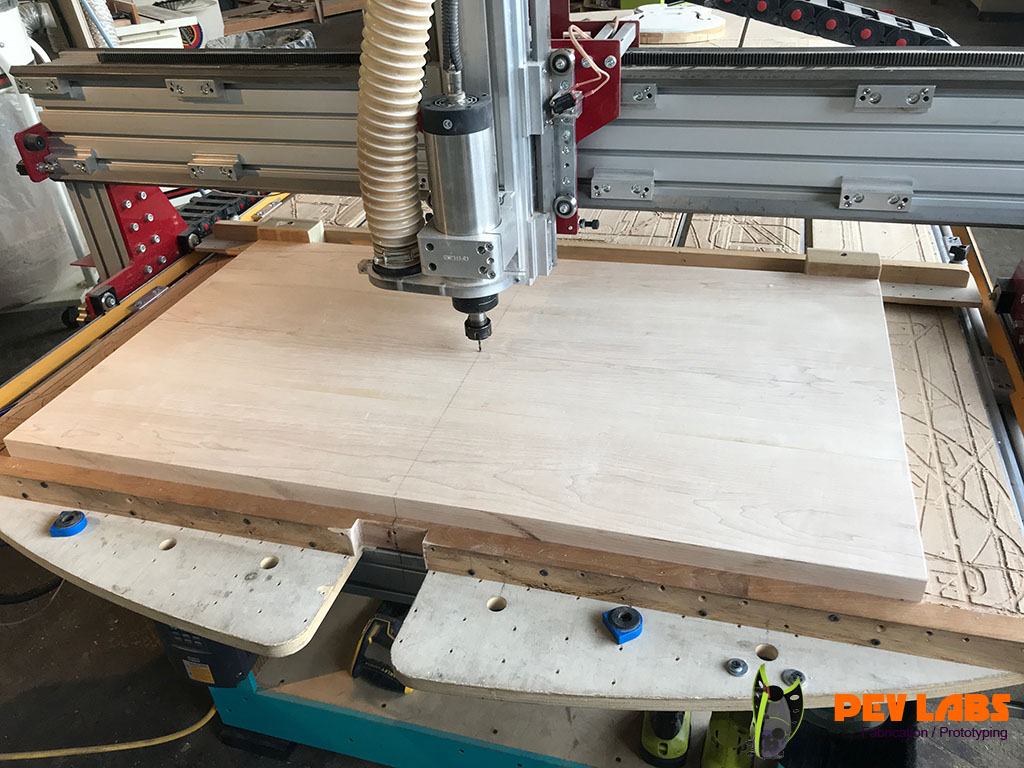 Guitar Body Slab of Maple on CNC