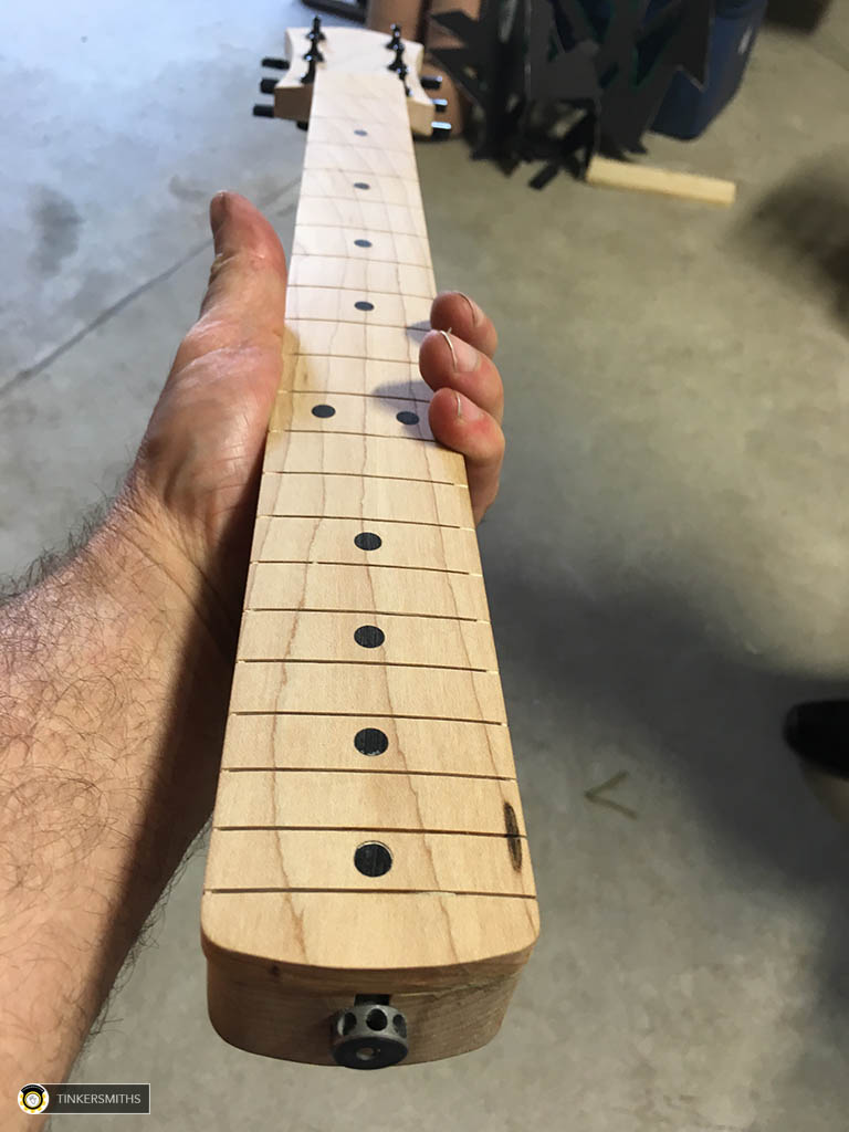CNC Milled Maple Guitar Neck Fretboard